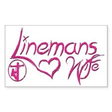 Linemans Wife Tag Decal