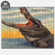 Vintage Alligator Postcard Puzzle