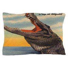 Vintage Alligator Postcard Pillow Case