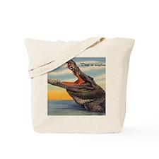 Vintage Alligator Postcard Tote Bag