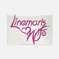 Linemans Wife Rectangle Magnet