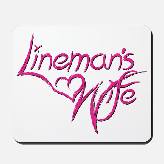 Linemans Wife Mousepad