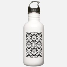 Black and white damask Water Bottle