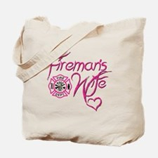 Firemans Wife Design Tote Bag