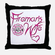 Firemans Wife Design Throw Pillow