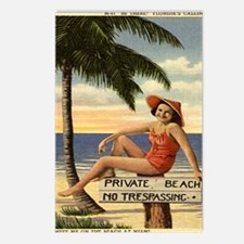 Vintage Private Beach Pos Postcards (Package of 8)