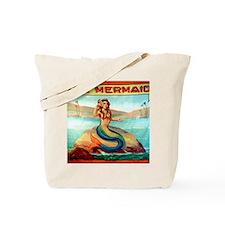 Vintage Mermaid Carnival Poster Tote Bag