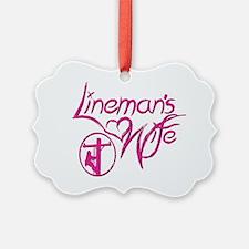 Linemans Wife Design Ornament