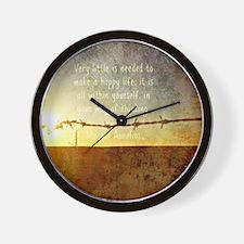 Marcus Aurelius Poster Wall Clock