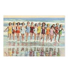 Vintage Women Running Bea Postcards (Package of 8)
