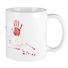 bloody shower curtain Mug