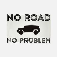 FJ Cruiser No Road No Problem Rectangle Magnet