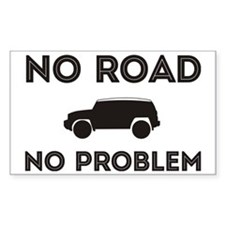 FJ Cruiser No Road No Problem Decal
