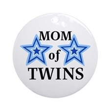 Mom of Twins (Boys) Ornament (Round)