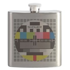 tv shower curtain Flask