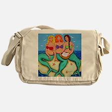Mermaids Merbabes Seashells Beach Messenger Bag