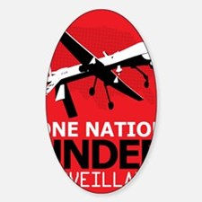 Drone Surveillance Nation Sticker (Oval)