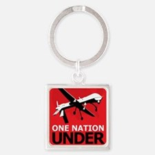 Drone Surveillance Nation Square Keychain