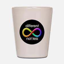 Different, Not Less Shot Glass