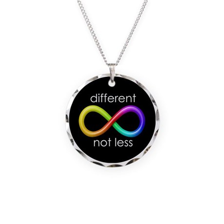 Different, Not Less Necklace Circle Charm