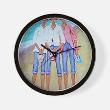 Treasure Hunters Women Seashells Wall Clock