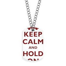 FJ Cruiser Keep Calm and Hold On Dog Tags