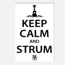 Keep Calm And Strum Postcards (Package of 8)