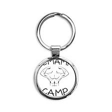 DeMamp Camp Workaholics Round Keychain