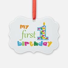 First Birthday Ornament