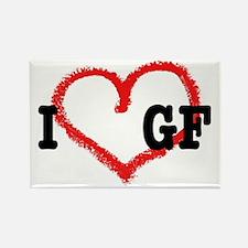 I *heart* GF Rectangle Magnet