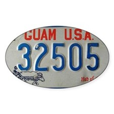 old Guam license plate Decal