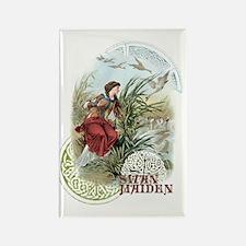 Swan Maiden Rectangle Magnet