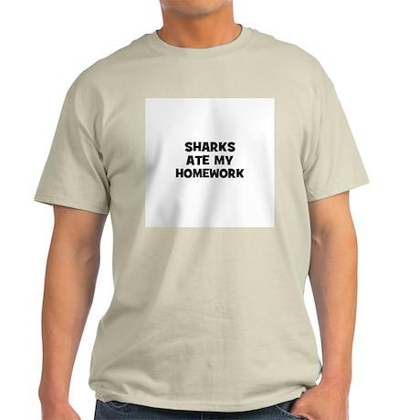 sharks ate my homework Light T-Shirt