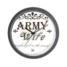 Army Wife: Toughest Job in the Army Wall Clock