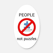PEOPLE, not puzzles Oval Car Magnet