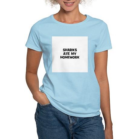 sharks ate my homework Women's Light T-Shirt