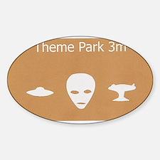 Theme Park Sticker (Oval)