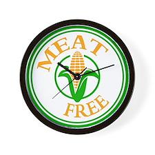 Meat Free Vegetarian Vegan Wall Clock