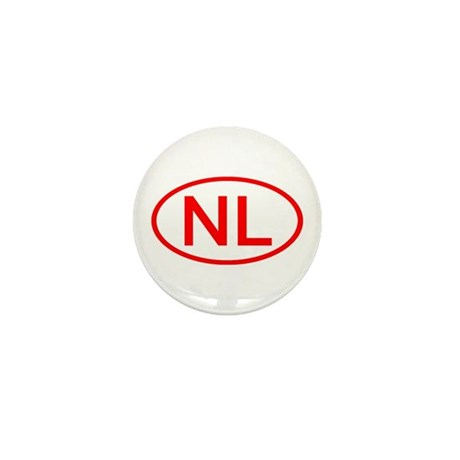 NL Oval (Red) Mini Button (100 pack)