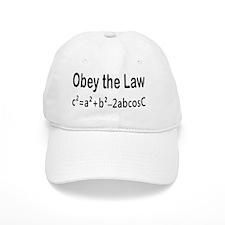 Obey the Law _ Law of Cosines Baseball Baseball Cap