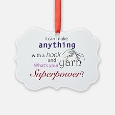 Crochet Superhero Ornament