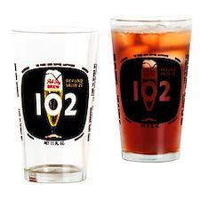 brew 102 label Drinking Glass