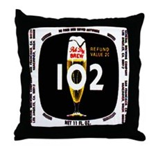 brew 102 label Throw Pillow