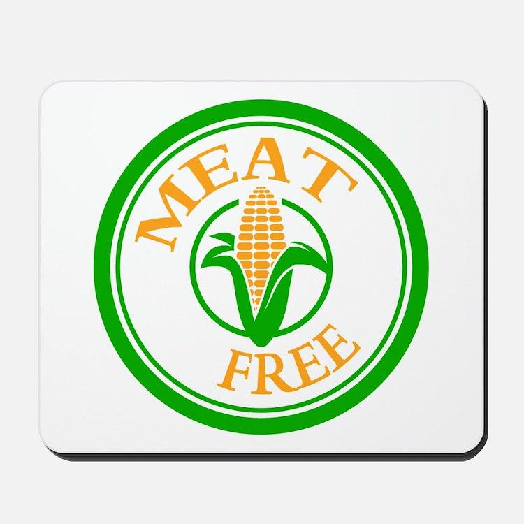 Meat Free Vegetarian Vegan Mousepad