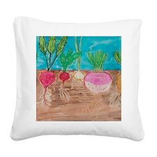 Vegetables Square Canvas Pillow