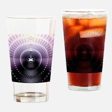 Purple Space Drinking Glass