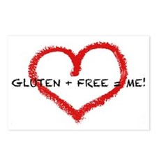 Gluten + Free = ME! Postcards (Package of 8)