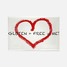 Gluten + Free = ME! Rectangle Magnet