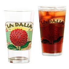 Spanish Dahlia Drinking Glass