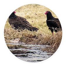 Turkey Vulture Round Car Magnet